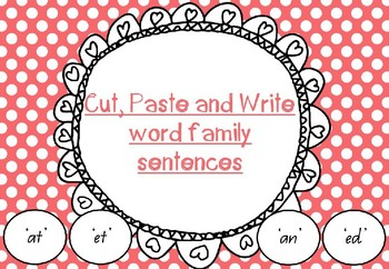Word Family Cut and Paste