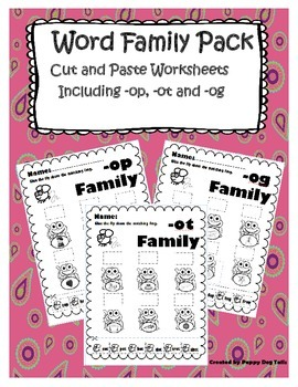 Word Family Cut and Paste Pack