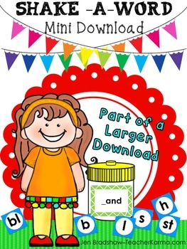 Word Family -  Decoding and Phonics - Mini Kit - Shake a Word Activity