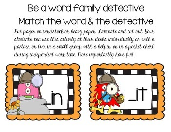 Word Family Detective - Short E