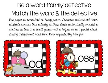 Word Family Detective - Short o
