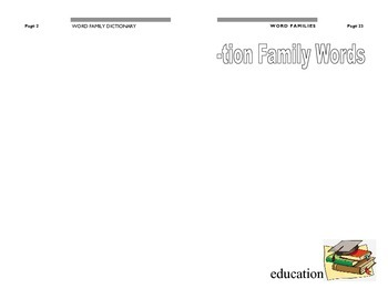 Word Family Dictionary / Journal 2