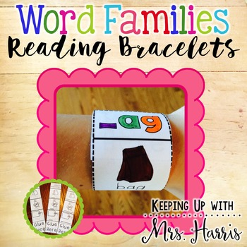 Word Families - Differentiated Reading Bracelets