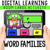 Word Family: Digital Task Cards   BOOM CARDS™   Distance Learning