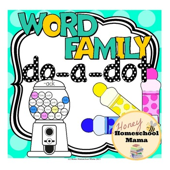 Word Family Do-a-Dot Worksheets Covering 55 Different Word Families