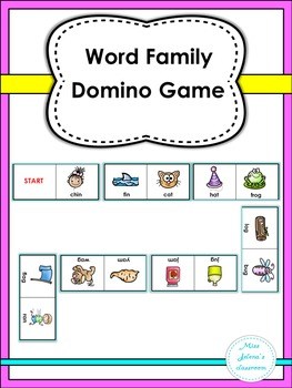 Word Family Domino