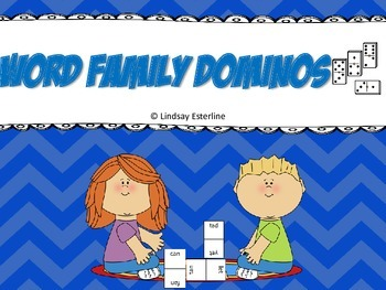 Word Family Dominoes Game