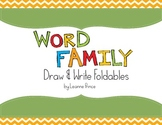 Word Family Draw and Write Foldables!