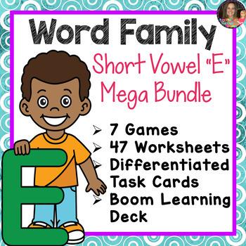 Word Family E Mega Bundle (CVCC)