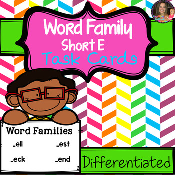 "Word Family ""E"" Task Cards"