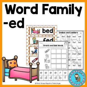 Word Family ED Word Work