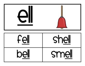 Word Family - ell family