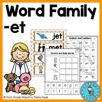 Word Family ET  Short Vowel E