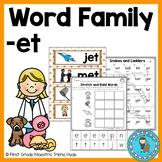 Word Family ET Word Work