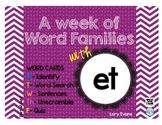Word Family - et family