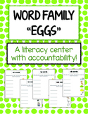 Word Family Game - using plastic eggs!