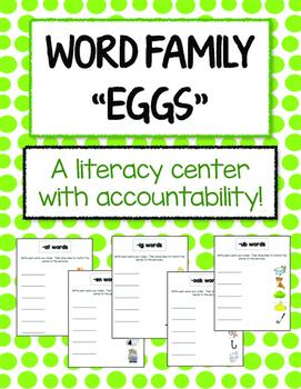Word Family Game - using plastic eggs!