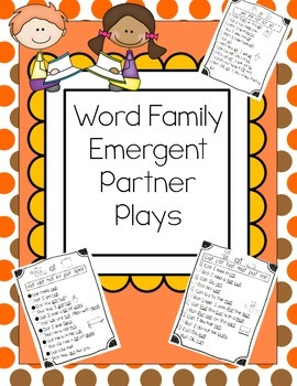 CVC Word Family Emergent Partner Plays for Reading Fluency