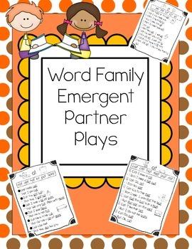 CVC Word Family Emergent Partner Plays for Reading Fluency