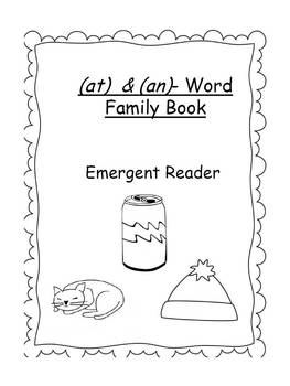 """Word Family Emergent Reader- (""""-at"""" & """"-an"""")"""