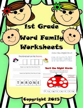 Word Family Ending -ONE No Prep Activity Pack. Hands On