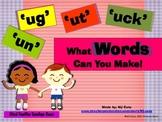 Word Family Envelope Game (-ot,-ob,-op,-ock)