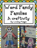 Word Families Activity - A Craftivity For All Word Families