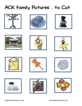 Word Family File Folder Game - ACK Family