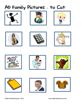 Word Family File Folder Game - AD Family