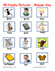 Word Family File Folder Game - AD Family