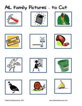 Word Family File Folder Game - AIL Family