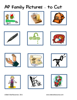Word Family File Folder Game - AP Family