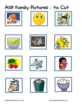 Word Family File Folder Game - ASH Family