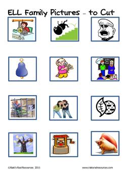 Word Family File Folder Game - ELL Family
