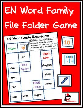 Word Family File Folder Game - EN Family