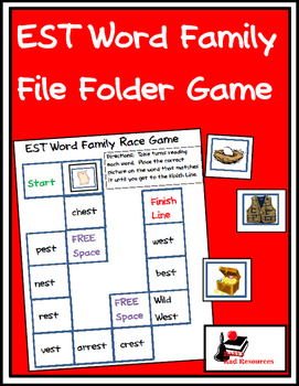Word Family File Folder Game - EST Family