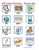 Word Family File Folder Game - ICE Family