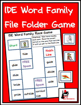 Word Family File Folder Game - IDE Family