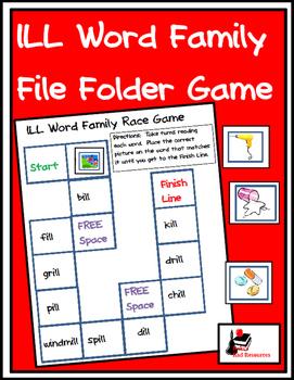 Word Family File Folder Game - ILL Family