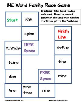 Word Family File Folder Game - INE Family