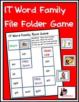 Word Family File Folder Game - IT Family