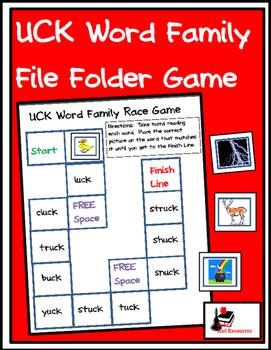 Word Family File Folder Game - UCK Family