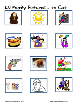 Word Family File Folder Game - UN Family