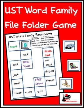 Word Family File Folder Game - UST Family