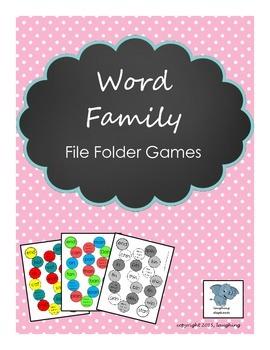 Word Family File Folder Games