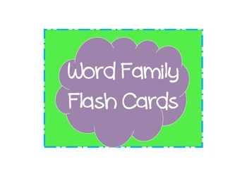 Word Family Flash Cards