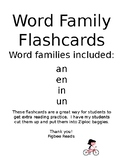 Word Family Flashcards Set 2 an en in un