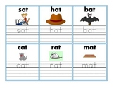 Word Family Flash Cards with Picture & Handwriting Practice