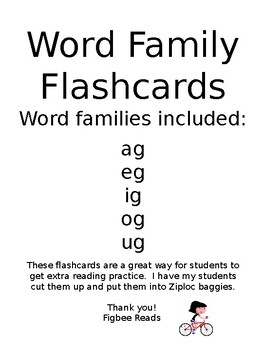 Word Family Flashcards Set 3