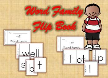 Word Family Flip Book